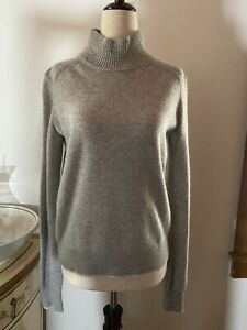Rag & Bone Grey Mock Neck 100% Cashmere Sweater Size S