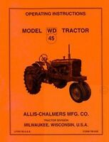 ALLIS CHALMERS WD 45 Tractor Owner Operator Manual WD45