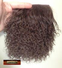 M00016 MOREZMORE Tibetan Lamb Fur MOCHA BROWN Premium 4x4 Doll Hair T20A