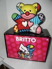 "NEW in BOX! ROMERO BRITTO Teddy Bear 10"" Ceramic Cookie Jar Sculpture Retired"