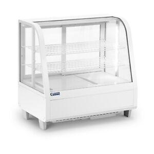 Kühlvitrine 100 L Kuchentheke 3 Ebenen Kühltheke weiß Kalte Theke Schiebetüren