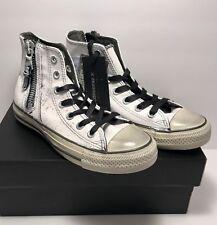Converse Womens Size 6 CTAS X John Varvatos Hi Side Zip Painted Shoes Sneakers