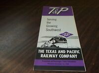 NOVEMBER 1959 TEXAS AND PACIFIC RAILWAY SYSTEM PUBLIC TIMETABLE MISSOURI PACIFIC