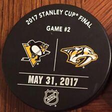 Pittsburgh Penguins vs Predators Game Used Stanley Cup Final Game 2 Puck Warm Up