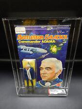 AFA 80+ Mattel Battlestar Galactica COMMANDER ADAMA figure 1978 MOC sealed toy !
