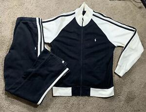 Vintage 90s Polo Ralph Lauren Black Track Suit