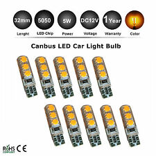 10pcs T10 194 168 W5W 6 SMD Silica Bright Car LED light Bulbs Lamp Yellow Orange