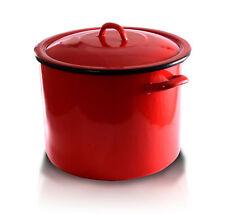 L'Émail Stock Soupe Pot Marmite 10L Commercial Ragoût Casserole Poêle Route