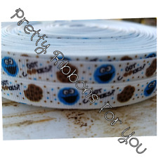 "cookie monster 3/8""  grosgrain ribbon the listing is for 5 yards"