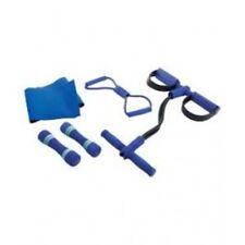Pro Fitness Toning Exercise Set*Dumbbells Ab Rower Resistance Tube Waist Trimmer