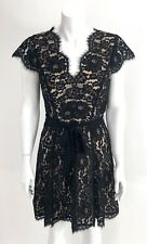 Joie Sloane Cap Sleeve Black Floral Lace Dress size 2 XS - WORN ONCE
