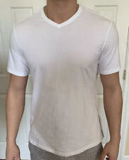 Lululemon Mens Size M 5 Year Basic V White Wht Tee Shirt Short Sleeve Core Metal