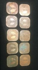 Lot of 10, Malaya 1 Cent Coin George Vl 1945 & 1943-Free ship