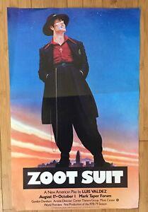 Zoot Suit 1978 Original Play Poster Mark Taper Forum World Premiere Luis Valdez