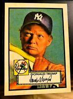 Donald Trump 1952 Style ACEO Baseball Art  Mantle - Gangsta Parody! MINT!