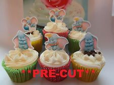 dumbo X24 edible stand up cup cake toppers, wafer paper *pre-cut*