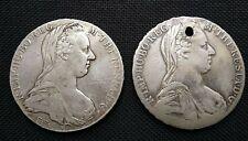 2 COIN-MARIA THERESA THALER-AUSTRIAN-1780-SILVER