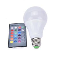 E27 Dimmable RGB LED light Color Changing Bulb with Remote Control 85-265V  NUIK