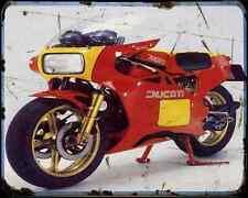 Ducati 600Tt1 85 1 A4 Metal Sign Motorbike Vintage Aged