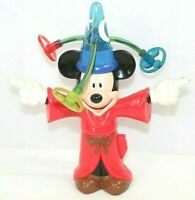 DISNEY Mickey Mouse Fantasia Sorcerer Electronic With Spinning Lights VINTAGE