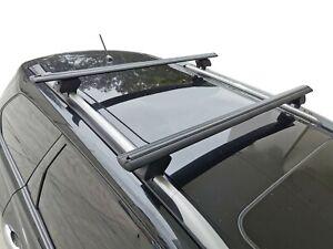 Alloy Roof Rack Cross Bar for Nissan Pathfinder R52 2014-20 Lockable Black 135cm