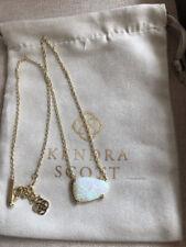 Kendra Scott Vintage White Kyocera Opal Isla Necklace