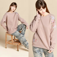 NEW Mauve Pink Ultra Soft Pretty Ruffle Trim Cold Shoulder Long Sleeve Basic Top