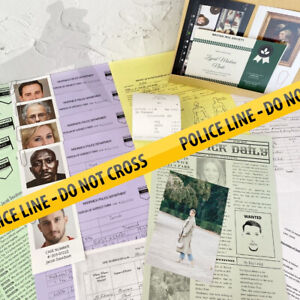 Unsolved Case File Murder Mystery Cold Case File for You to Solve Detective Game