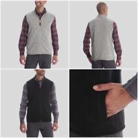 Men's Wrangler Outdoor Fleece Vest Gilet Jacket in Grey or Black RRP $22.99