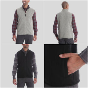 Men's Wrangler Outdoor Fleece Vest Gilet Jacket in Grey or Black RRP $22.99