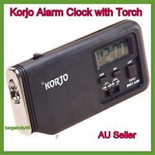Korjo Travel Alarm Clock With Torch Act22