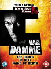 Jean-claude Van Damme Triple - In Hell / The Order / Wake Of Death [New DVD]