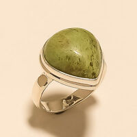 Natural Tanzania Ruby in Fuchsite Ring 925 Sterling Silver Handmade Fine Jewelry