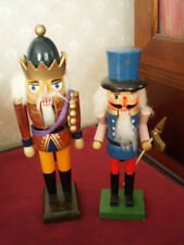 2 Vtg Wooden Nutcrackers Soldiers