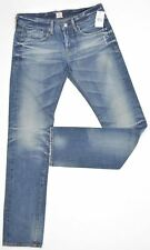 AG Adriano Goldschmied Straight Jeans Sz 27 Blue Distressed SAMPLE NEW 6770