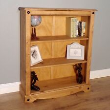 Corona Small Low 2 Shelf Bookcase Mexican Solid Pine by Mercers Furniture®