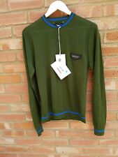Givenchy Men's Leather Patch Logo Wool Jumper - New/tags - Size M - Green/blue