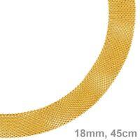 18mm Milanese Collier Kette Halsschmuck aus 585 Gold Gelbgold, 45cm, Goldkette