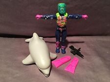 GI Joe 1992 Eco Warriors Deep Six & Finback Dolphin 100% Complete