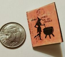 Miniature dollhouse Halloween witch spell book Barbie 1/12 Scale   Haunted Troub