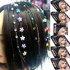 8 x capelli cristallo Bling Diamond Alla Moda Matrimonio Festa Clip-in Estensione