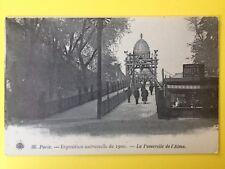 cpa PARIS EXPO UNIVERSELLE 1900 Passerelle de l'ALMA KIOSQUE BAR Virgile JACQUET