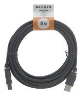 Belkin A/B - USB cables (USB A, USB B, Male/Male, Black, PVC)