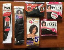 African American Human Hair Pieces -6 Packages. Lot
