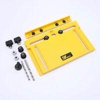 1Set Cabinet Hardware Wood Door Drawer Drilling Guide Adjustable Woodworking Jig