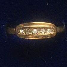 Vintage 9ct Gold & Diamonds Ring 9K 375 Style 22 Hallmarked