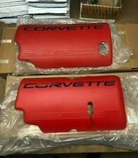 2001-2004 Chevrolet Corvette LS6 Engine Red Fuel Rail Covers GM PAIR 12564257 58
