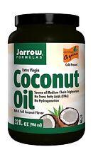 Jarrow Formulas Coconut Oil 100% Organic  Extra Virgin Supports... Free Shipping