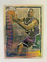 1996-97 RAY ALLEN Topps Chrome Youthquake, #YQ9, Milwaukee Bucks, RC, Rookie
