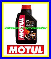 1 Litro Olio Motore 4T Moto MOTUL 7100 5W40 100% Sintetico Api SN Jaso MA2